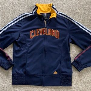 Adidas NBA Cleveland Cavs Zip Jacket, Navy, L